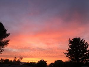 Sun settting